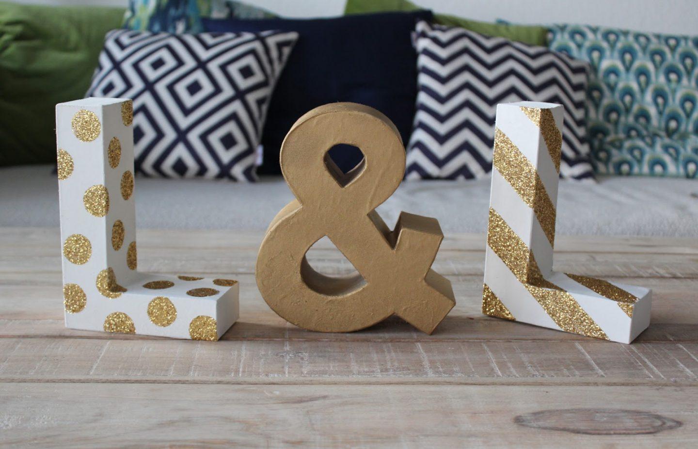 DIY: Glitter Letters