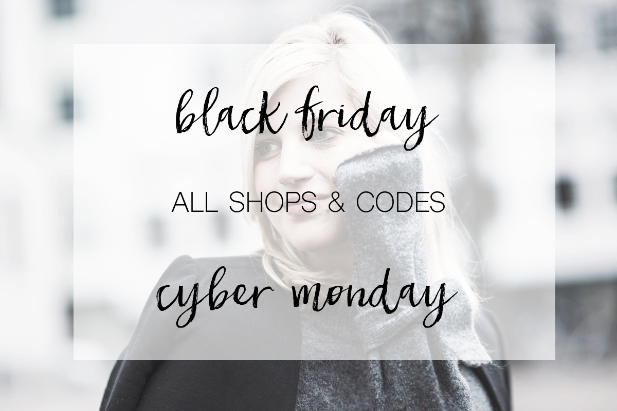 SHOPPING: BLACK FRIDAY & CYBER MONDAY – Shops & Codes