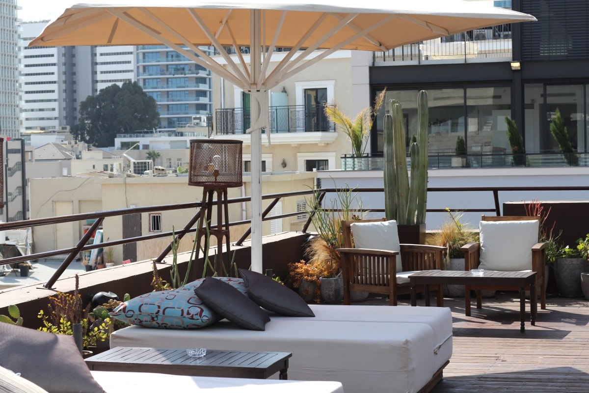 Rooftop des Brown Urban Hotel Tel Aviv