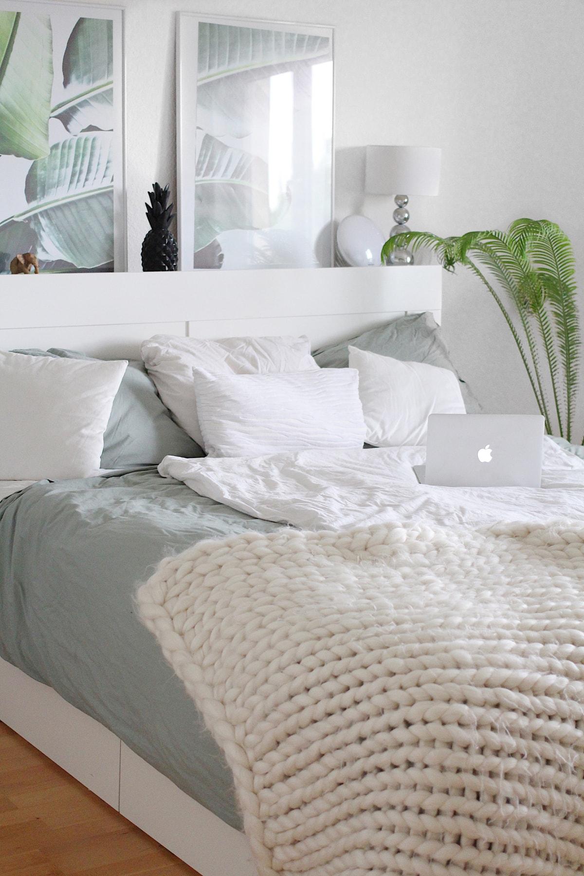 IKEA Hemnes Leaf Prints Palme Schlafzimmer Einrichtung Min