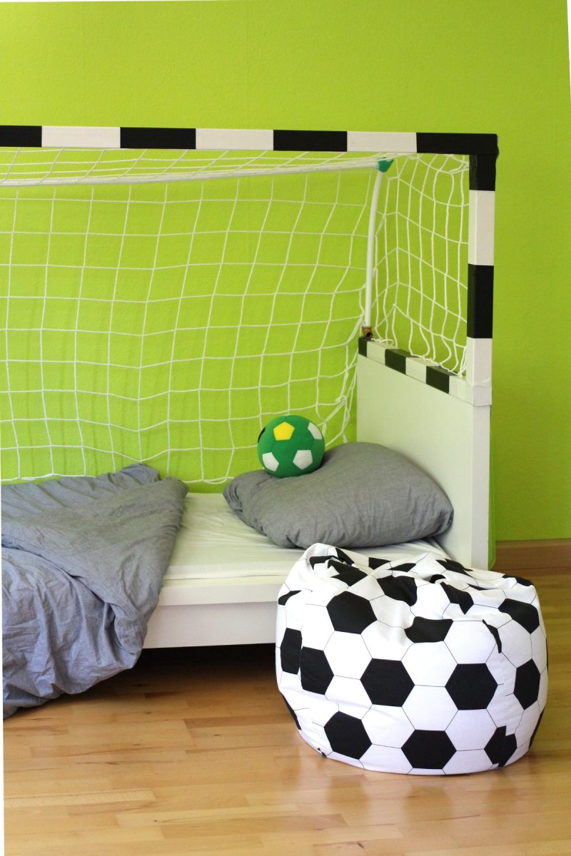 fussballbett kinderzimmer ideen diy kids children playroom. Black Bedroom Furniture Sets. Home Design Ideas